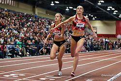 2020 USATF Indoor Championship<br /> Albuquerque, NM 2020-02-15<br /> photo credit: © 2020 Kevin Morris<br /> womens 1500m, Bowerman TC, Nike