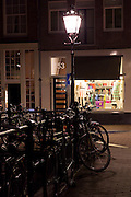 Canalside fashion shop in Amsterdam, Holland