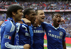 15.05.2010, Wembley Stadium, London, ENG, FA Cup Finale, Chelsea FC vs Portsmouth FC, im Bild John Terry, the Captain  of Chelsea and Didier Drogba of Chelsea  in Chelsea celebration for winning FA Cup. EXPA Pictures © 2010, PhotoCredit: EXPA/ IPS/ Marcello Pozzetti / SPORTIDA PHOTO AGENCY