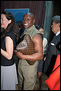 VICTORIA SIDDALL; CHRIS EUBANK, Drinks party to launch this year's Frieze Masters.Hosted by Charles Saumarez Smith and Victoria Siddall<br />  Academicians' room - The Keepers House. Royal Academy. Piccadilly. London. 3 July 2014