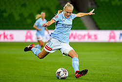 November 16, 2018 - Melbourne, Victoria, Australia - TAMEKA BUTT (31) of Melbourne City kicks the ball in round 3 of the W-League competition between Melbourne City and Melbourne Victory during the 2018 season at AAMI Park, Melbourne, Australia. The Westfield W-League is Australia's national women's semi-professional soccer league. Melbourne Victory won 2-0. (Credit Image: © Sydney Low/ZUMA Wire)