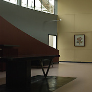Paris, France, 2004: Interior view of the exhibition room, Maison La Roche Jeanneret (1923) at 8-10 square Doctor Blanche - Le Corbusier arch - Photographs by Alejandro Sala,(Historical archivi AS)