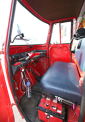 The interior of Naveen Rabelli's self-modified solar-powered tuk tuk after arriving at Dover Docks at the end of a seven-month, 6,200 mile overland adventure from India.