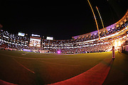 The lights are turned out for a halftime presentation intended to honor the military during the San Diego Chargers 28th Annual Salute to the Military 2016 NFL preseason football game against the San Francisco 49ers on Thursday, Sept. 1, 2016 in San Diego. The 49ers won the game 31-21. (©Paul Anthony Spinelli)