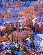 Bryce Canyon National Park, Peek-A-Boo Loop Trail, hoodoos in winter, Bryce, Utah