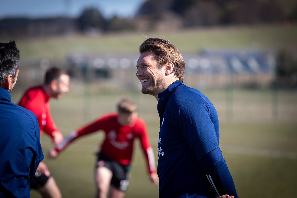 ABERDEEN FC TRAINING WITH NEW MANAGER STEPHEN GLASS AT CORMACK PARK<br /> <br /> PICTURE OF  ALLAN RUSSELL<br /> <br /> PIC DEREK IRONSIDE / NEWSLINE MEDIA