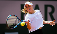 Sofia Kenin of the United States during practice ahead of the Roland-Garros 2021, Grand Slam tennis tournament, Qualifying, on May 28, 2021 at Roland-Garros stadium in Paris, France - Photo Rob Prange / Spain ProSportsImages / DPPI / ProSportsImages / DPPI