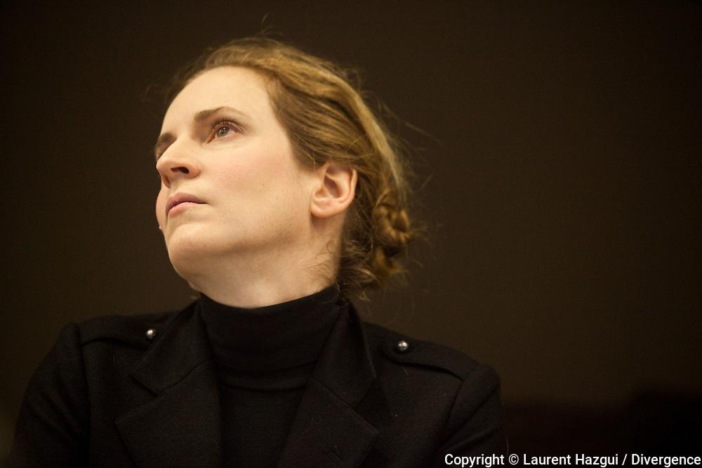 09012013. Paris. Point presse de Nathalie Kosciusko-Morizet à l'Assemblée nationale.