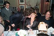 AARON TAYLOR-JOHNSON; TIPHIANE DE LUSSY, Charles Finch and  Jay Jopling host dinner in celebration of Frieze Art Fair at the Birley Group's Harry's Bar. London. 10 October 2012.
