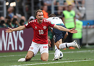Christian Eriksen of France during the 2018 FIFA World Cup Russia, Group C football match between Denmark and France on June 26, 2018 at Luzhniki Stadium in Moscow, Russia- Photo Tarso Sarraf / FramePhoto / ProSportsImages / DPPI