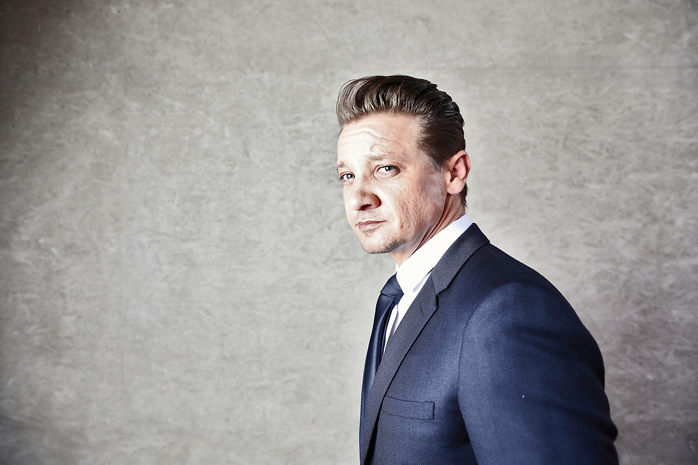 Jeremy Renner portrait Cannes Airport May 2017.