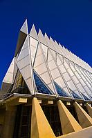 Cadet Chapel, Air Force Academy, near Colorado Springs, Colorado USA