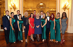 December 23, 2017 - London, London, United Kingdom - Image licensed to i-Images Picture Agency. 22/12/2017. London, United Kingdom. The Duchess of Cornwall, President of the National Osteoporosis Society, at Buckingham Palace in London as she hosts  a tea dance attended by 'Strictly Come Dancing' dancers and judges to highlight the benefits for older people of staying active. (Credit Image: © Rota/i-Images via ZUMA Press)