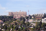 Israel, Jerusalem, King David Hotel and Yemin Moshe neighbourhood overlooks the Old City
