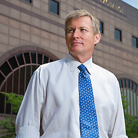 David Herron, CEO Chicago Stock Exhange photographed outside Stock <br /> Exchange Building by Wayne Cable, June, 2006