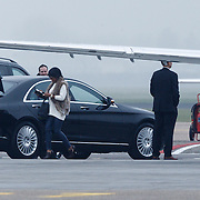 NLD/Amserdam/20131116 - Khloe Kardashian arriving with a private jet on Schphol Airport Amsterdam, girlfriend Malika Haqq