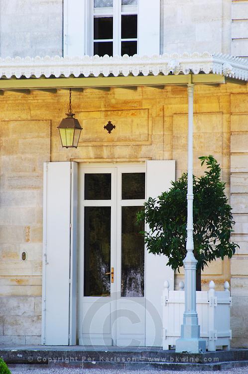 The entrance door at Chateau Cheval Blanc, Saint Emilion, Bordeaux