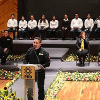 Toluca, México.- Mario Medina, Candidato del PRD a diputado local por el distrito I, durante el inicio de campaña en sala Felipe Villanueva. Agencia MVT / Arturo Hernández.
