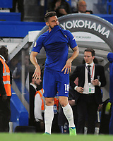 Football - 2017 / 2018 Premier League - Chelsea vs. Huddersfield Town<br /> <br /> Chelsea's Olivier Giroud shows his despair at the final whistle after only drawing the match at Stamford Bridge.<br /> <br /> COLORSPORT/ANDREW COWIE
