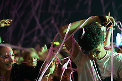 Fans enjoying a performance by Charli XCX on the Radio 1 Dance Stage at the 2017 Reading Festival. Photo date: Sunday, August 27, 2017. Photo credit should read: Richard Gray/EMPICS Entertainment