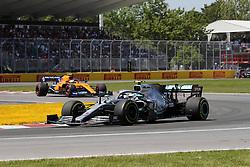 June 9, 2019 - Montreal, Canada - xa9; Photo4 / LaPresse.09/06/2019 Montreal, Canada.Sport .Grand Prix Formula One Canada 2019.In the pic: Valtteri Bottas (FIN) Mercedes AMG F1 W10 leads Lando Norris (GBR) Mclaren F1 Team MCL34 (Credit Image: © Photo4/Lapresse via ZUMA Press)