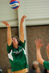 27-10-2012 VOLLEYBAL: VV ALTERNO - E DIFFERENCE SSS: APELDOORN<br /> Eerste divisie A mannen - Alterno wint met 4-0 van SSS / Michiel van de Beek<br /> ©2012-FotoHoogendoorn.nl
