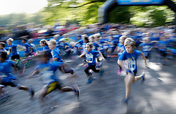 September 10, 2017 - Solna, Sweden - Children run at the start of the Prince Daniel's Race during the Day of Sport 2017, in Hagaparken. (Credit Image: © Patrik Osterberg/Aftonbladet/IBL via ZUMA Wire)