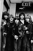 Def Leppard backstage - UK 1981