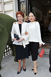 Left to right, LADY ELIZABETH ANSON and the DOWAGER VISCOUNTESS ROTHERMERE at a party to celebrate the 60th birthday of Mark Shand and the 50th birthday of Tara the elephant held at 29 Portland Place, London on 25th May 2011.