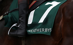 Runners and riders going to post before the Weatherbys Champion Bumper during Ladies Day of the 2018 Cheltenham Festival at Cheltenham Racecourse