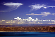 The clouds caught my eye with their jellyfish like appearance. This lake is in the northern Utah, on the Idaho border.