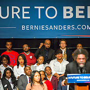 Orangeburg, SC - January 14, 2016: A SC State University alum and Bernie Sanders supporter reacts to Dr.  Cornel West's keynote speech at the HBCU Tour inside Barbara A. Vaughn Fine Arts Center on the campus of SC State University. CREDIT: LOGAN R. CYRUS FOR THE NEW YORK TIMES