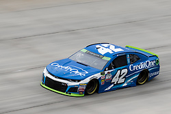 October 5, 2018 - Dover, DE, U.S. - DOVER, DE - OCTOBER 05: Kyle Larson driver of the #42 Credit One Bank Chevrolet races through turn 1 during Friday's practice for the Monster Energy NASCAR Cup Series Gander Outdoors 400 on October 05, 2018, at Dover International Speedway in Dover, DE. (Photo by David Hahn/Icon Sportswire) (Credit Image: © David Hahn/Icon SMI via ZUMA Press)