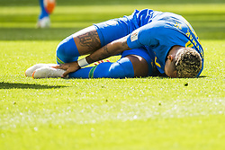 June 22, 2018 - Sankt Petersburg, Russia - 180622 Neymar of Brazil lies down with an injury during the FIFA World Cup group stage match between Brazil and Costa Rica on June 22, 2018 in Sankt Petersburg..Photo: Petter Arvidson / BILDBYRÃ…N / kod PA / 92075 (Credit Image: © Petter Arvidson/Bildbyran via ZUMA Press)