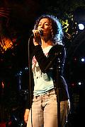 Israeli singer  Nurit Galron is performing in Tel Aviv. April, 23 , 2007.