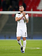 Tottenham's Toby Alderweireld applauds the fans during the Champions League group match at Wembley Stadium, London. Picture date December 7th, 2016 Pic David Klein/Sportimage