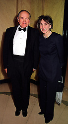 LORD & LADY ARMSTRONG OF ILMINSTER he is the former Secretary to the Cabinet and head of the Civil Service,  at a dinner in London on 29th February 2000.<br /> OBS 73