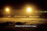 01874-08811 Tundra Buggy Lodge at night  Churchill  MB