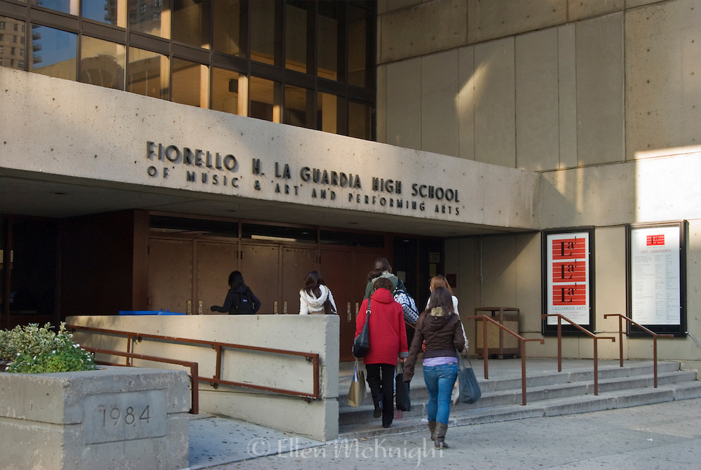 """Fiorello H. LaGuardia High School of Music & Art and Performing Arts, also known as """"LaGuardia Arts"""", is a prestigious school located in the Lincoln Center Area of Manhattan. It was formed by the combination of the High School of Music & Art and the High School of Performing Arts (which was featured in the move and TV series """"Fame"""")."""