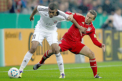 26.10.2011, Allianz Arena, Muenchen, GER, DFB Pokal, 2. Runde, FC Bayern Muenchen vs FC Ingolstadt, im Bild  Collin Quaner (Ingolstadt #11) im kampf mit Rafinha (Bayern #13) // during the Pokal fight second Round from GER FC Bayern Muenchen vs FC Ingolstadt , on 2011/10/26, Allianz Arena, Munich, Germany, EXPA Pictures © 2011, PhotoCredit: EXPA/ nph/  Straubmeier       ****** out of GER / CRO  / BEL ******