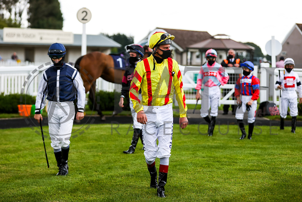 Jockey Adam Kirby ahead of the 12:00 Visit attheraces.com Handicap - Rogan/JMP - 14/07/2020 - HORSE RACING - Bath Racecourse - Bath, England.