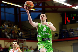 Marko Pajic of Slovenia during basketball match between National teams of Turkey and Slovenia in Qualifying Round of U20 Men European Championship Slovenia 2012, on July 17, 2012 in Domzale, Slovenia. (Photo by Vid Ponikvar / Sportida.com)