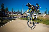 at the UCI BMX Supercross World Cup in Santiago del Estero, Argintina.