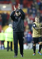Leyton Orient Manager, Russell Slade applauds the away supporters at full time - Photo mandatory by-line: Matt Bunn/JMP - Tel: Mobile: 07966 386802 26/11/2013 - SPORT - Football - Bristol - Ashton Gate - Bristol City v Leyton Orient - Sky Bet League One