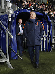 (L-R) assistant trainer Fred Grim of Holland, coach Dick Advocaat of Holland during the FIFA World Cup 2018 qualifying match between Belarus and Netherlands on October 07, 2017 at Borisov Arena in Borisov,  Belarus