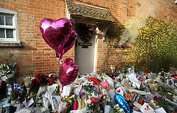 Floral tributes continue to be left outside the home of George Michael in Goring-on-Thames, Oxfordshire, after he died on Christmas Day aged 53.