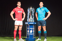 Hurlingham Club, London, January 27th 2016. Wales Captain Sam Warburton and Italy Captain Sergio Parisse at the launch of the RBS Six Nations Rugby Tornament. ///FOR LICENCING CONTACT: paul@pauldaveycreative.co.uk TEL:+44 (0) 7966 016 296 or +44 (0) 20 8969 6875. ©2015 Paul R Davey. All rights reserved.