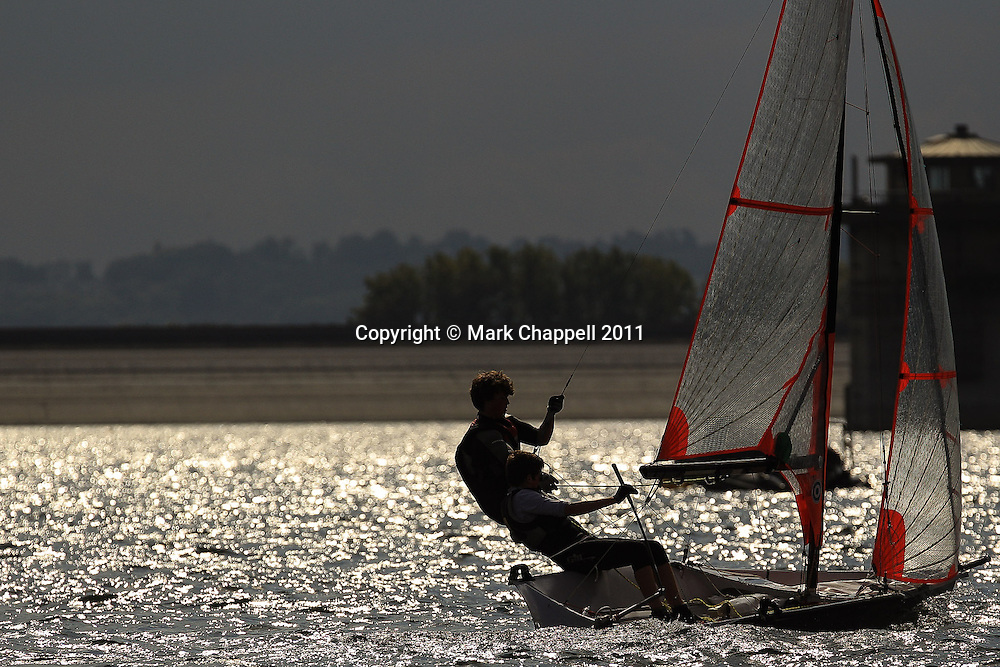 49er class  National sailing competition at Datchet Water. Saturday 24  September  2011.  London, UK.<br /> <br /> Photo Credit: Mark Chappell<br /> <br /> © Mark Chappell 2011. <br /> All rights reserved, see instructions.