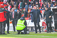 Grant McCann of Doncaster Rovers (Manager) during the EFL Sky Bet League 1 match between Doncaster Rovers and Plymouth Argyle at the Keepmoat Stadium, Doncaster, England on 13 April 2019.