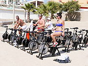 Israel, The Maccabiah an international Jewish athletic event similar to the Olympics held in Israel every four years Beach front sport activities Spinning July 2009